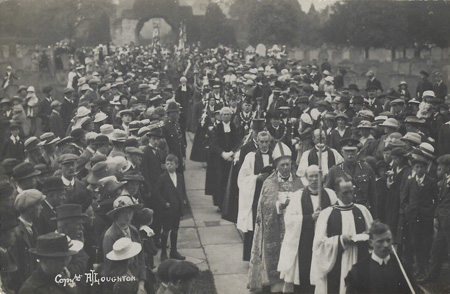The Bishop in the procession