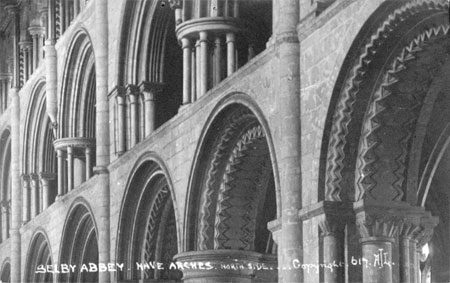 Selby Abbey arches in the nave