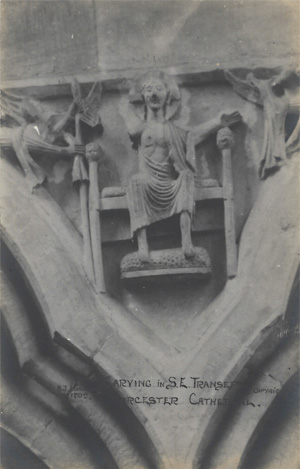 Carving in S.E. Transept