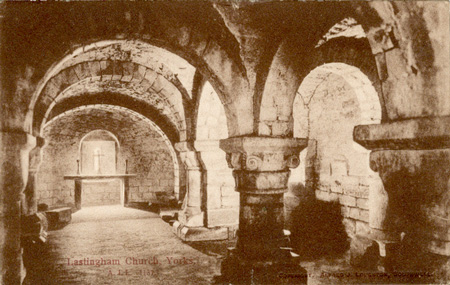 The Crypt, Lastingham Church, Yorkshire