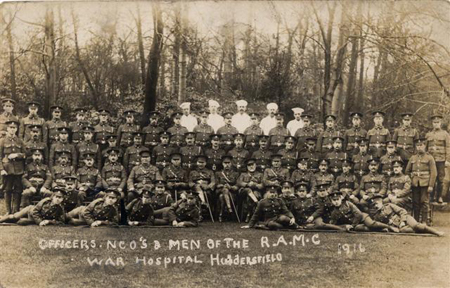 Officers, NCO's & men of the R.A.M.C War Hospital Huddersfield