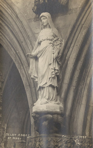 Selby Abbey St Mary's statue